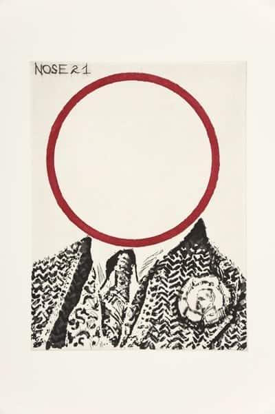 William Kentridge, Nose 21, 2009, Aquatint, engraving and sugarlift. Courtesy of David Krut Projects