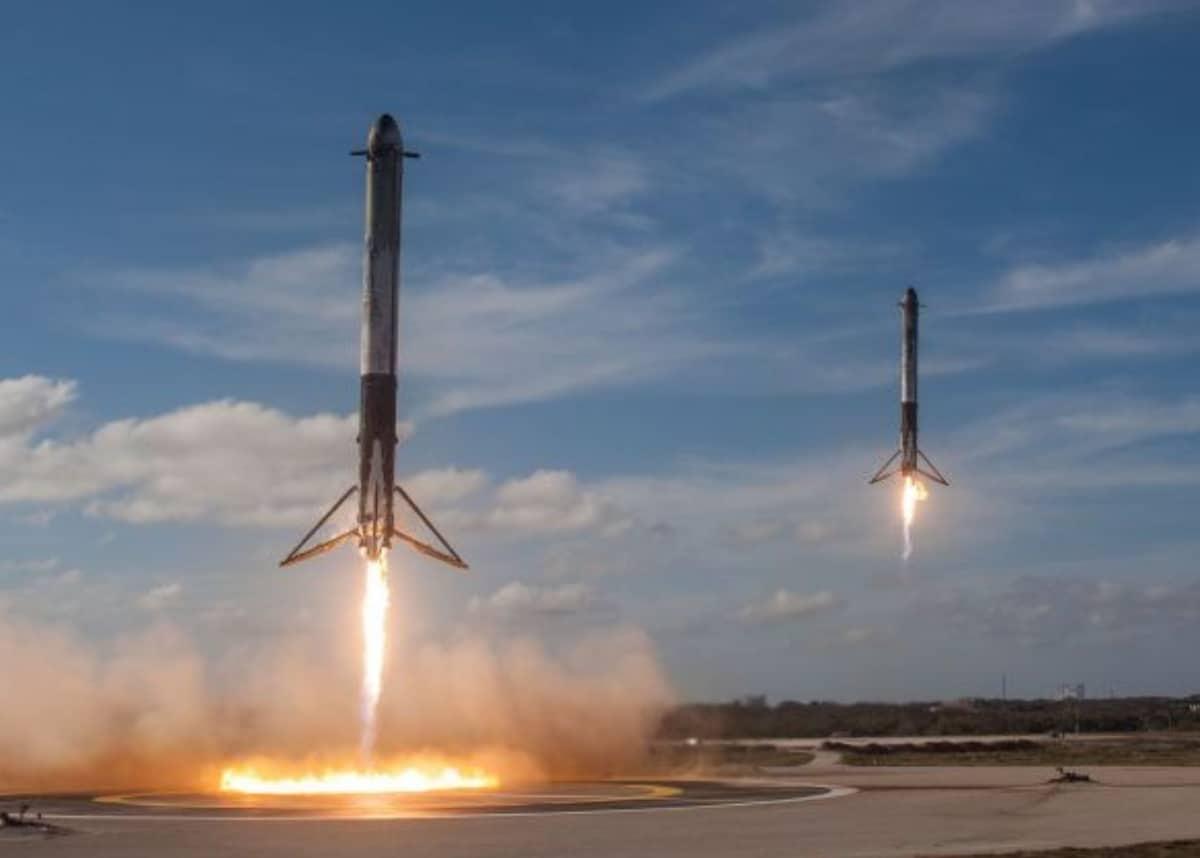 Falcon Heavy rocket launch spacex elon musk