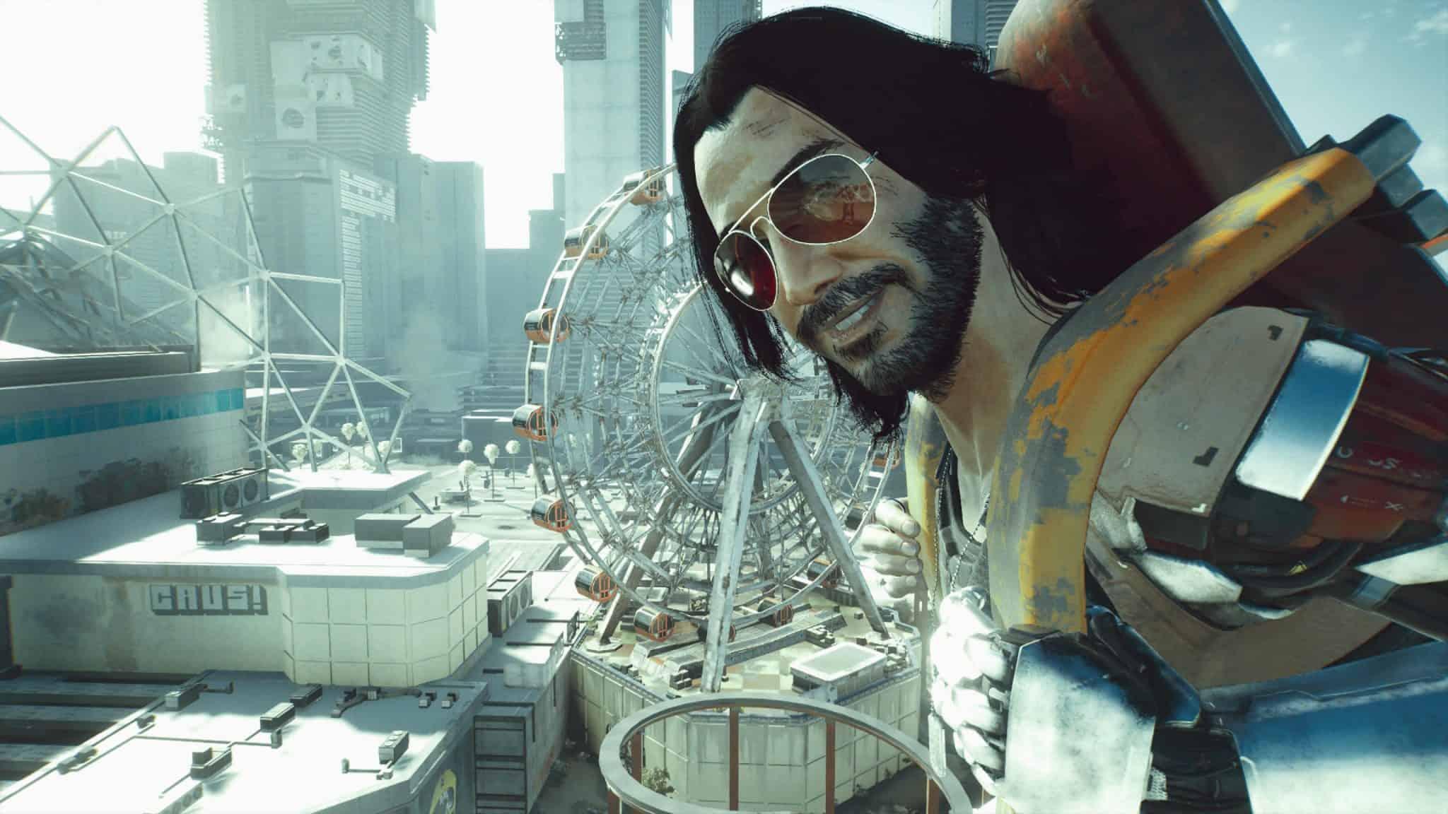 Johnny silverhand cyberpunk 2077 roller coaster