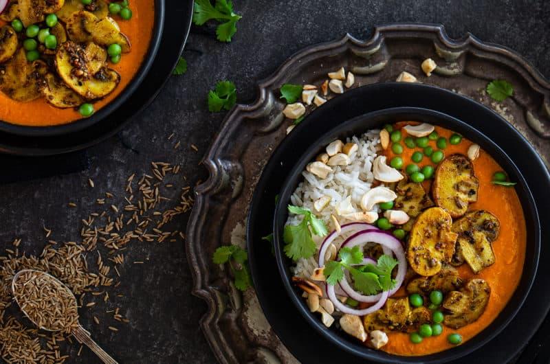 Cashew Nut & Mushroom Curry Recipe