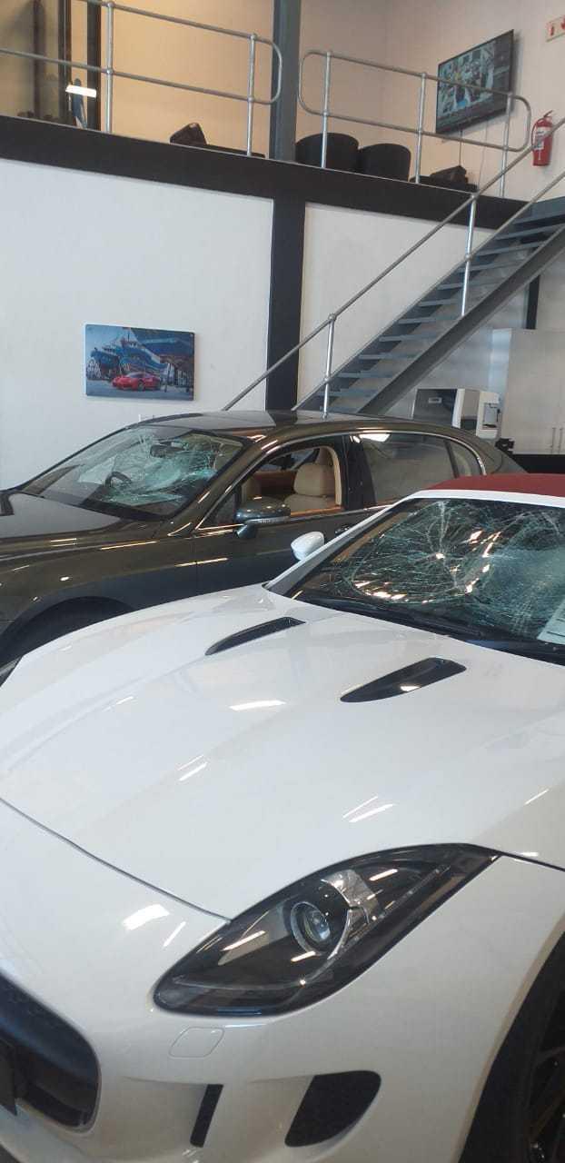 IMG 20210217 WA0024 - Watch: Gang storms CT dealership, smashing windows of luxury cars