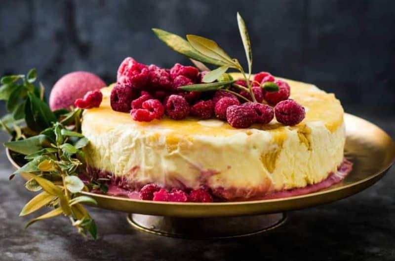 Pineapple and raspberry semifreddo recipe
