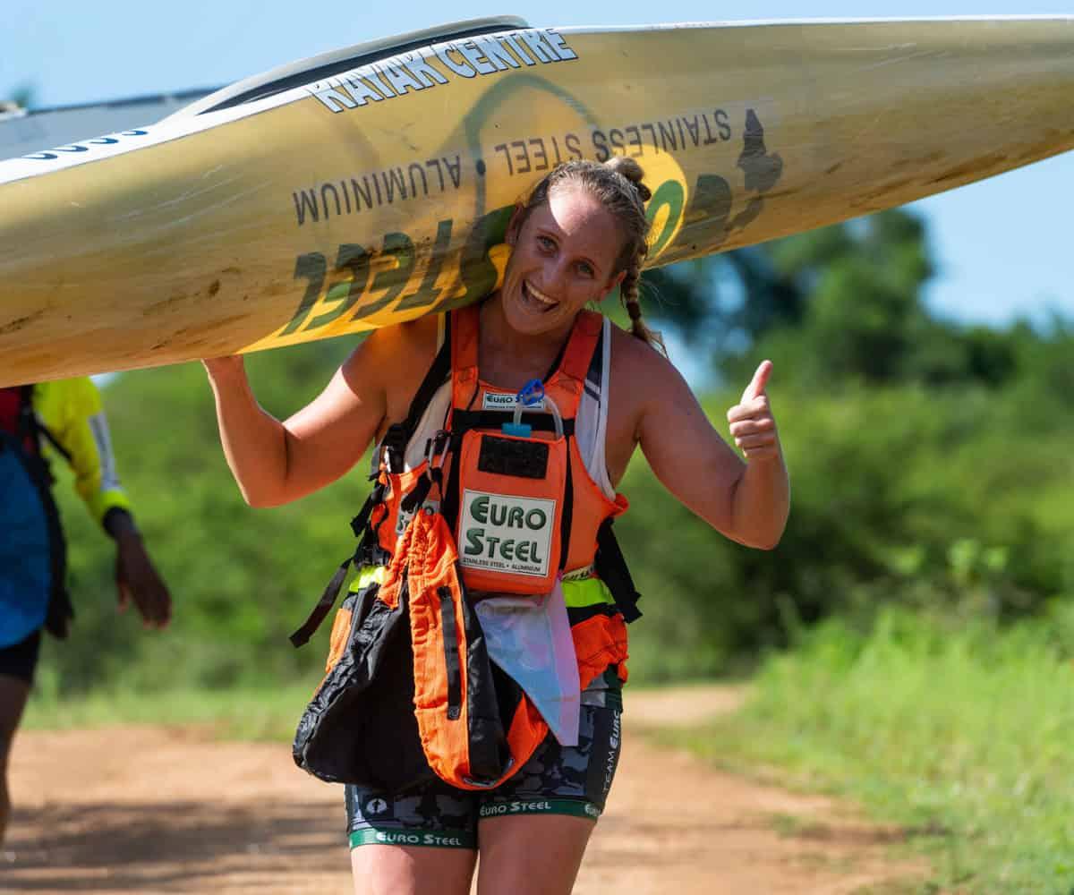 Dusi Canoe Marathon: Jenna Ward in race-against-time